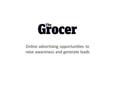 Online advertising opportunities to raise awareness and generate leads.