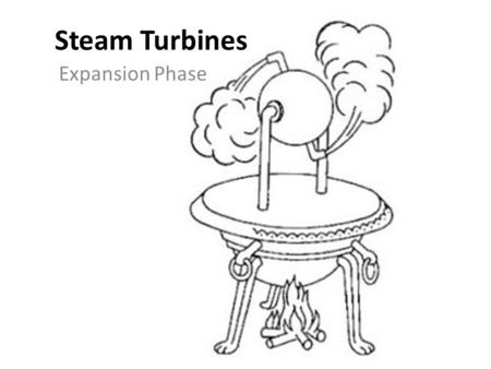 Steam Turbines Expansion Phase References Required – Introduction to Naval Engineering (Ch. 8) Recommended – Principles of Naval Engineering (pp. 144-145)