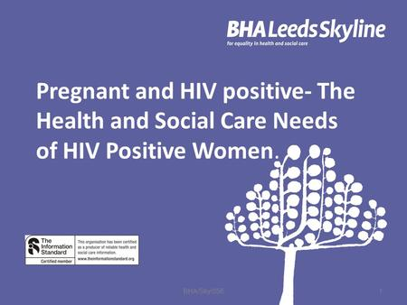 Pregnant and HIV positive- The Health and Social Care Needs of HIV Positive Women. 1 BHA/Sky/056.