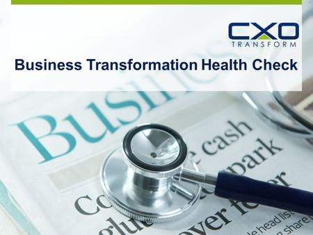 Business Transformation Health Check