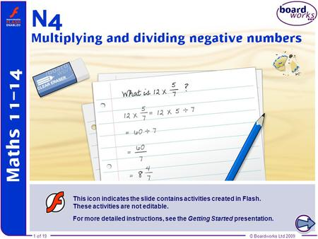 N4 Multiplying and dividing negative numbers