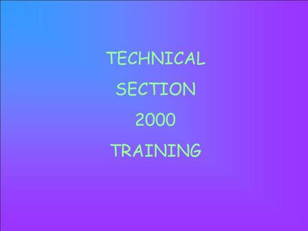 TECHNICAL SECTION 2000 TRAINING LIQUID WASTE LAND USE SOLID WASTE BIOSOLIDS HOUSING VECTOR WATER INDIVIDUAL PUBLIC.