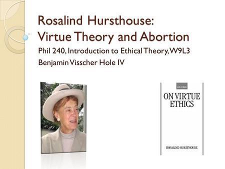 rosalind hursthouses essay