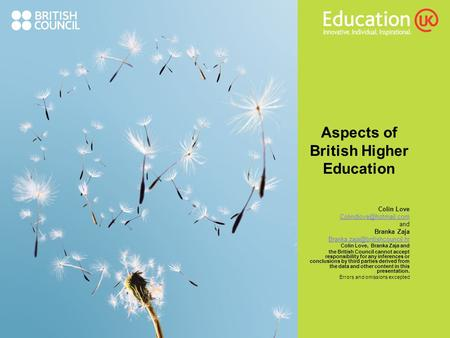 Aspects of British Higher <strong>Education</strong>