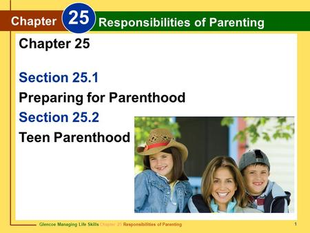 25 Chapter 25 Section 25.1 Preparing for Parenthood Section 25.2