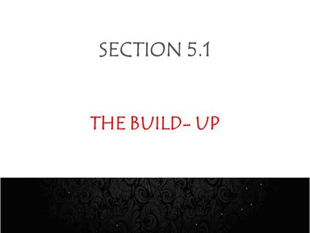 SECTION 5.1 THE BUILD- UP. THE BUILD-UP- SPORT AWARDS WEEK DayTimeActivityVenue Mon, 29 Oct. Tues, 30 OctWhole DayFittings & Installations at the VenueSandton.