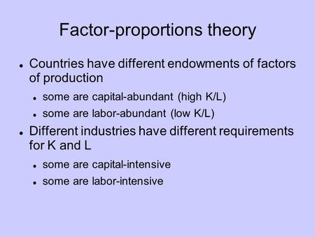 Factor-proportions theory