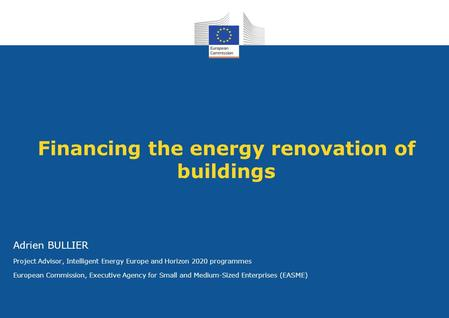 Financing the energy renovation of buildings