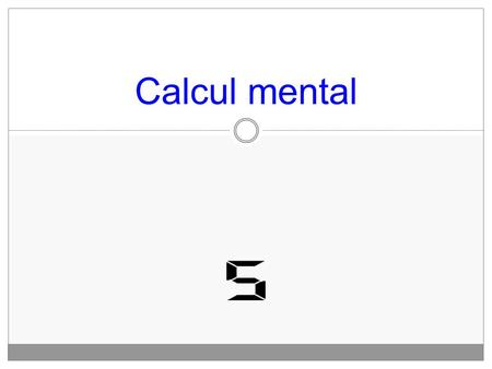Calcul mental. Calcul n°1 2 x 7 = Calcul n°2 3x 7 =