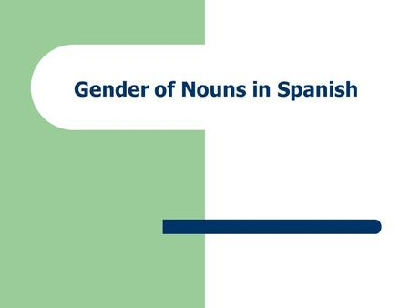 Gender of Nouns in Spanish. Gender in English for people and animals manwoman boygirl actoractress waiterwaitress aviatoraviatrix tigertigress lionlioness.