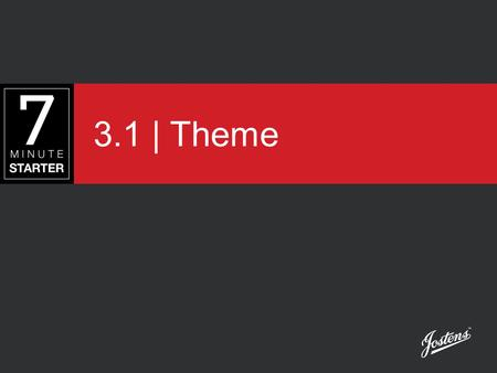 3.1 | Theme. STEP 1 - LEARN View this presentation to understand the purpose of a theme and how it is developed.
