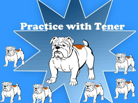 Practice with Tener. Ricardo, tú y yo tenemos un perrito. Ricardo, you and me have a (little) dog. ¡Ojo! Remember to use the diminutive!