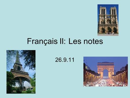 Français II: Les notes 26.9.11. Le Passé Composé To describe events in the past, we use the Passé Composé Pattern: subject + present tense of avoir +