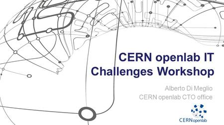 CERN openlab IT Challenges Workshop Alberto Di Meglio CERN openlab CTO office.