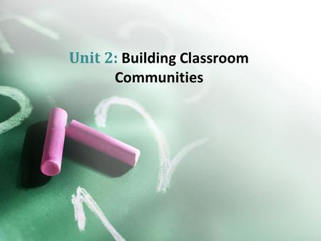 Unit 2: Building Classroom Communities. Marcel Proust Neuroscience of memoryNeuroscience of memory Virginia Woolf The divided selfThe divided self.