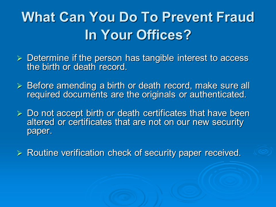 What Can You Do To Prevent Fraud In Your Offices.