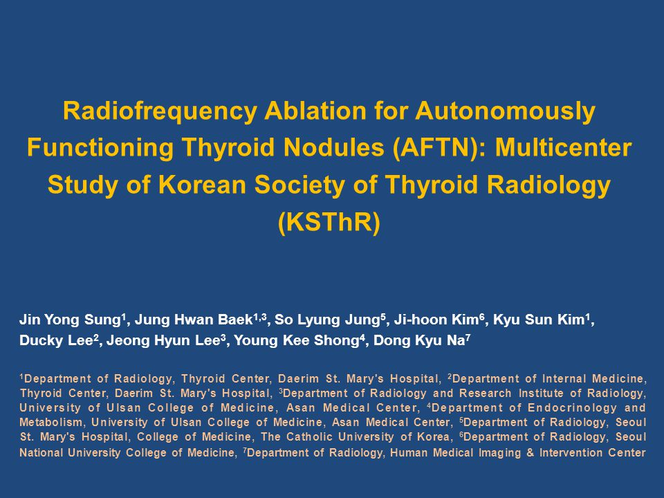 Definition of AFTN Scintigraphy : increased uptake in the nodule compared with surrounding normal thyroid parenchyma Hormone TSH: low or undetected