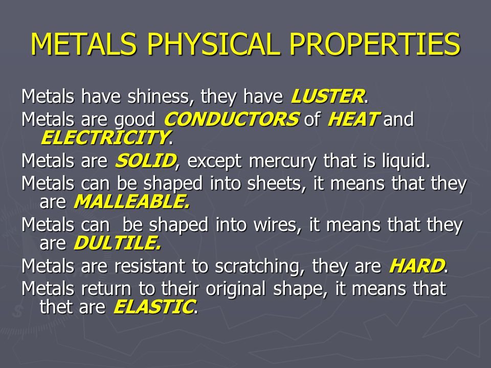 CHEMICAL PROPERTIES Metals form CATIONS, positive particles.