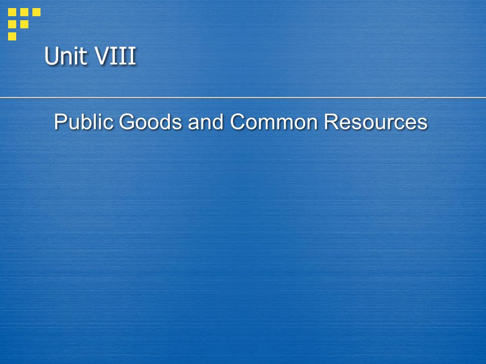 In this chapter, look for the answers to these questions: What are public goods.
