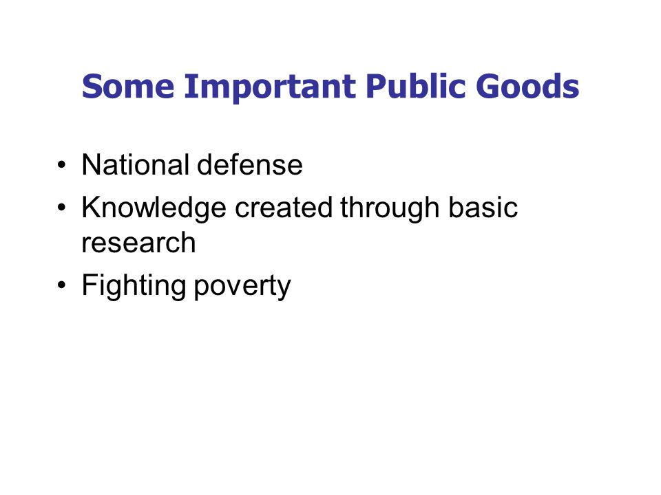 The benefit a public good provides is the value of its services.
