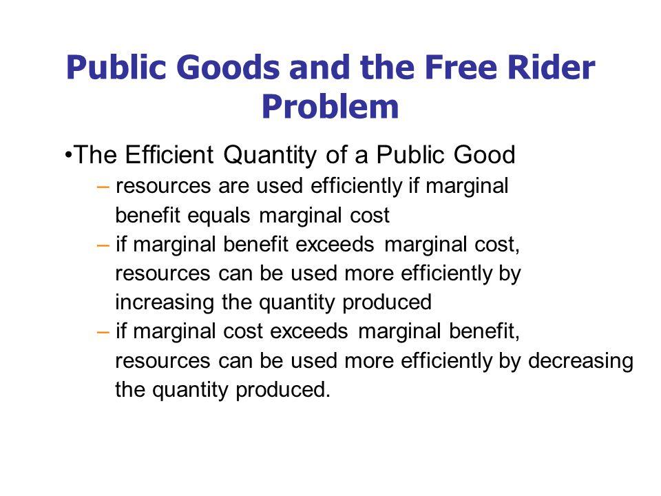 The efficient quantity of a public good -- surveillance satellites.