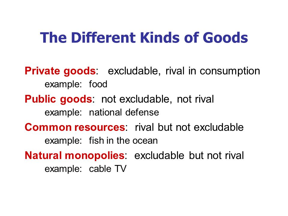 A C T I V E L E A R N I N G 1: Categorizing roads A road is which of the four kinds of goods.