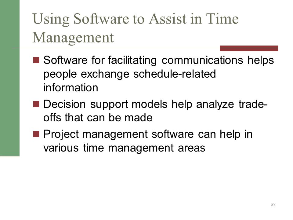 Words of Caution on Using Project Management Software Many people misuse project management software because they dont understand important concepts and have not had training You must enter dependencies to have dates adjust automatically and to determine the critical path You must enter actual schedule information to compare planned and actual progress 39