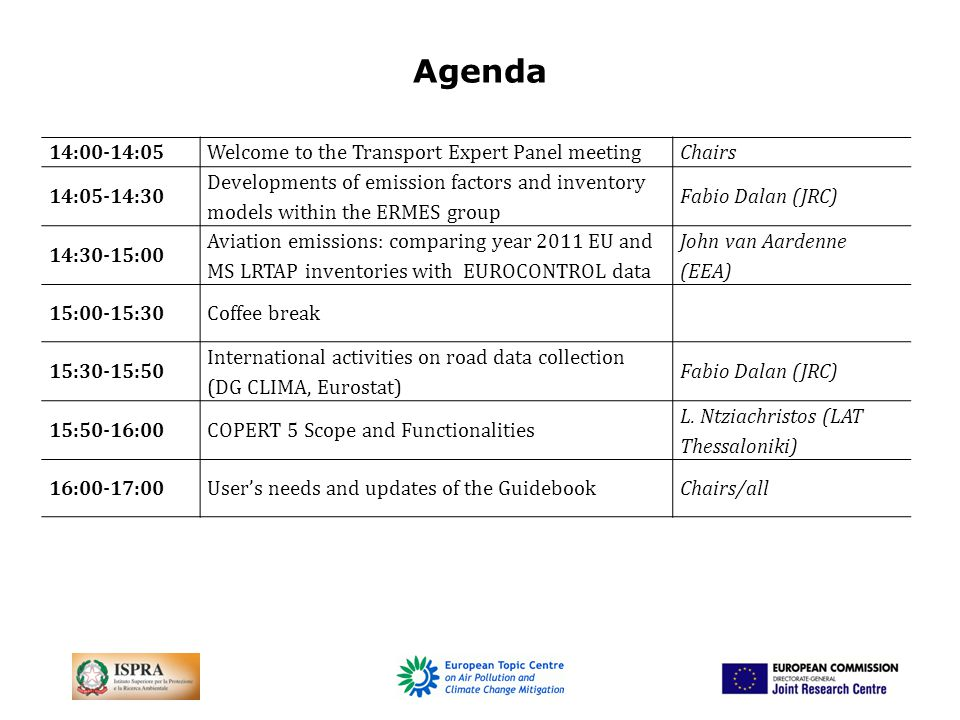 European Research group on Mobile Emission Sources: www.ermes-group.euwww.ermes-group.eu network of mobile emission laboratories/modellers and model users, funding agencies Main activity production of emission factors to coordinate research and measurement programmes Link with TFEIP Executive board: Dilara, Nziachristos Join ERMES plenary 26-27 September The ERMES Group