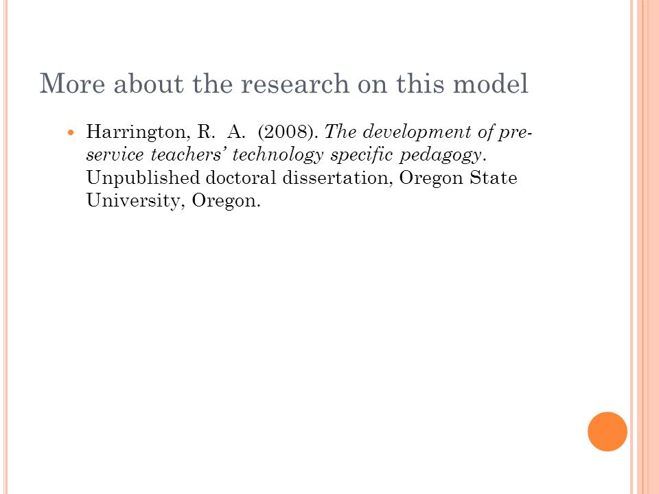 TPACK - A Strategic Thinking Knowledge for Teachers Teaching in the 21st Century Interconnected and interrelated knowledge of content, pedagogy (teaching and learning) and technology (Internet, podcasts, calculators, computers, …) Interconnected and interrelated knowledge of content, pedagogy (teaching and learning) and technology (Internet, podcasts, calculators, computers, …) Characterized by planning, organizing, critiquing and abstracting for specific content, specific student needs, specific classroom situations, etc.