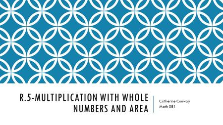R.5-Multiplication with whole numbers and area