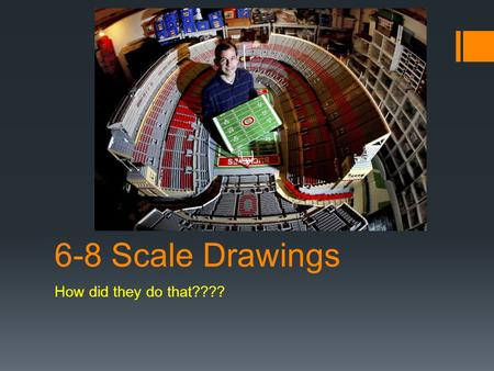 6-8 Scale Drawings How did they do that????.