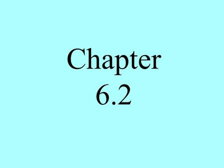 Chapter 6.2. Chapter 6.2 Law of Cosines Two cases remain in the list of conditions needed to solve an oblique triangle- SSS and SAS. To use Law of Sines,