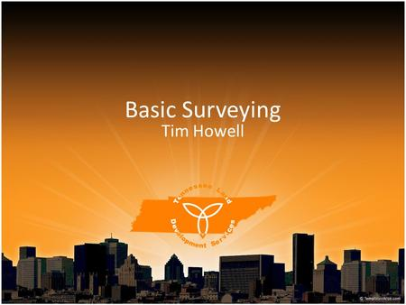 Basic Surveying Tim Howell. Land Surveying: The science and art of determining relative positions of points above, on, or beneath the surface of the earth,