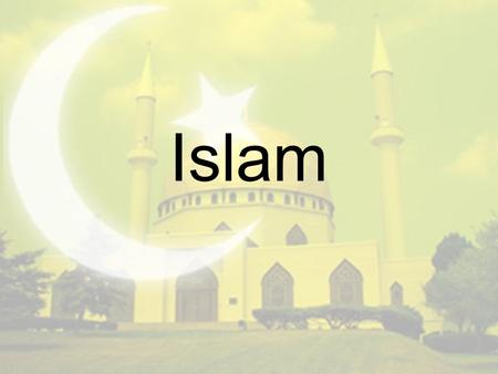 "Islam. Where did Islam get it's name? The term Islam derives from the three-letter Arabic root s-l-m, which generates words such as ""surrender,"" ""submission,"""