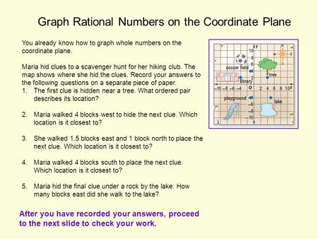 Graph Rational Numbers on the Coordinate Plane