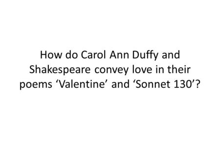 havisham and anne hathaway poem comparison essay Join now log in home literature essays carol ann duffy: poems form,  yet in anne hathaway by duffy, which was written during the post-modern period in 1990, the .