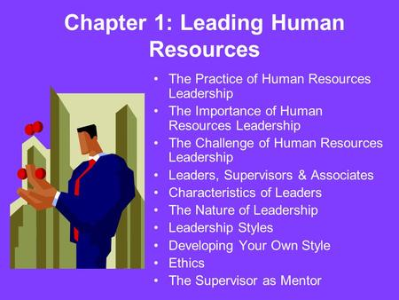 Chapter 1: Leading Human Resources