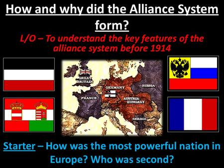 How and why did the Alliance System form?