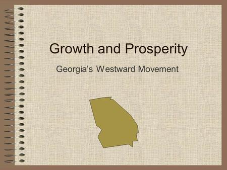 Georgia's Westward Movement
