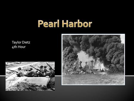 Taylor Dietz 4th Hour. The purpose of the Japanese attack on Pearl Harbor was to neutralize American navel power in the Pacific. Plans for a surprise.
