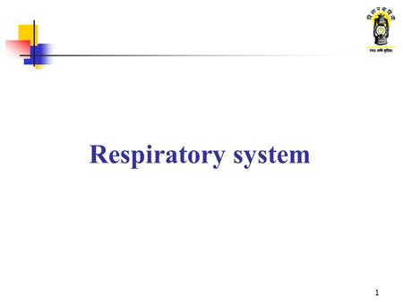 1 Respiratory system. 2 What are we going to learn ? Function of the respiratory system Main parts of the respiratory system Exchange of gases in the.