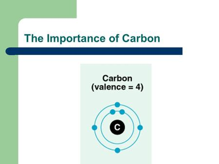 The Importance of Carbon