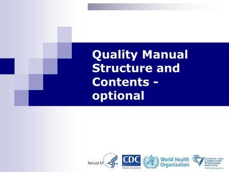 Writing a short Quality Manual