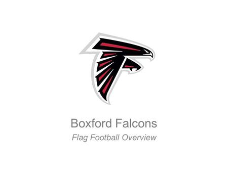 Boxford Falcons Flag Football Overview