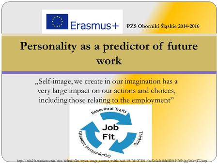 """Self-image, we create in our imagination has a very large impact on our actions and choices, including those relating to the employment"" Personality as."