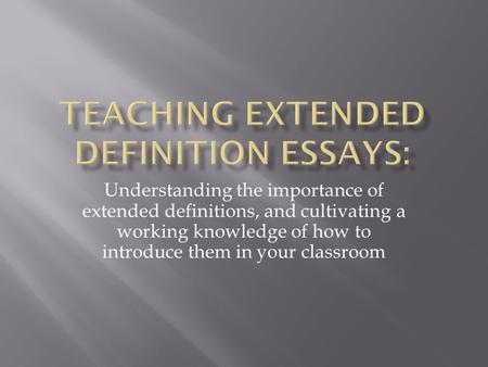 examples of definition essays topics