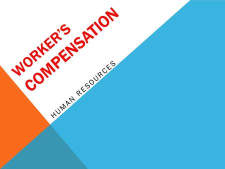 WORKER'S COMPENSATION HUMAN RESOURCES. EMPLOYEE INJURY POLICY The University is committed to providing a safe environment for its employees. This policy.