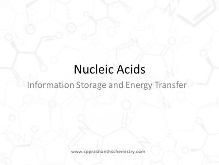 Information Storage and Energy Transfer