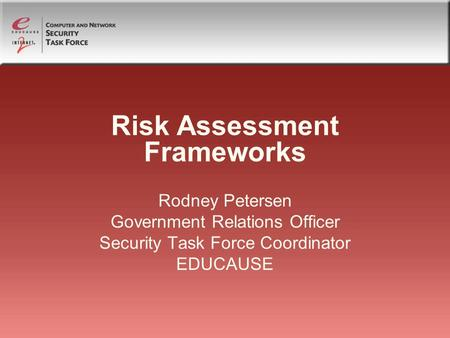 Risk Assessment Frameworks