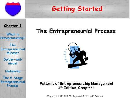 Getting Started The Entrepreneurial Process Chapter 1